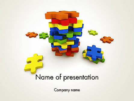 Pile of Puzzle Pieces Presentation Template, Master Slide