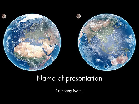 Earth and Moon Presentation Template, Master Slide