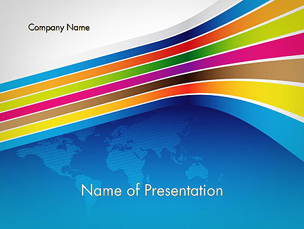 Colorful World Presentation Template, Master Slide