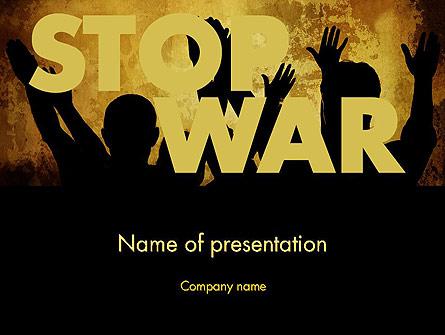 Stop War Presentation Template, Master Slide