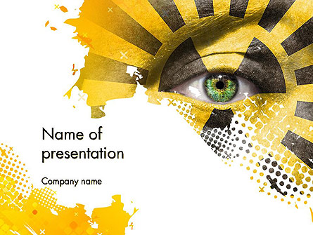 Gamma Ray Presentation Template, Master Slide