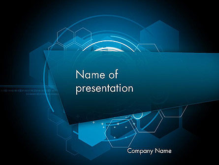 Abstract High Tech Hexagons Presentation Template For Powerpoint And
