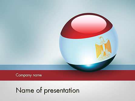 Ball With Flag Of Egypt Presentation Template, Master Slide
