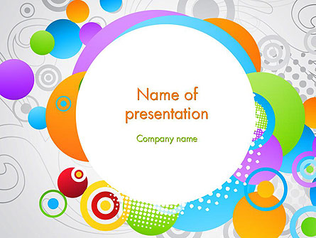 Abstract Colored Circles Presentation Template, Master Slide
