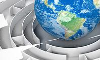 Earth in Maze Presentation Template