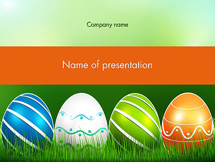 Painted Eggs Presentation Template, Master Slide