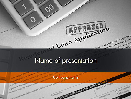 Loan Application Theme Presentation Template, Master Slide