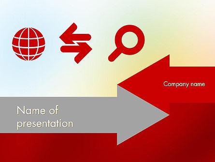 Business Theme in Flat Design Presentation Template, Master Slide