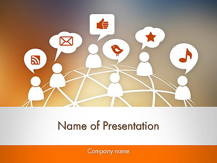 Social Media Icons Presentation Template, Master Slide
