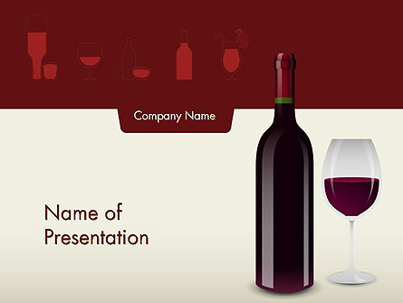 Wine Themed Presentation Template Master Slide