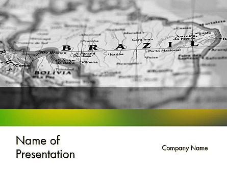 Map of Brazil Presentation Template, Master Slide