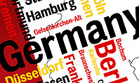 Germany Map and Cities Word Cloud Presentation Template
