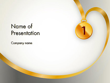 Gold Medal Presentation Template, Master Slide