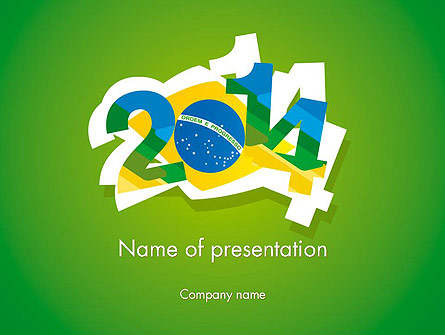 2014 Brazil World Cup Presentation Template, Master Slide