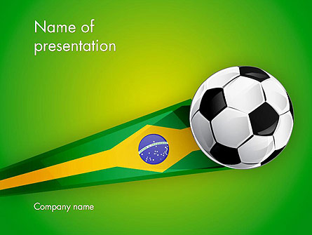Brazilian Football Presentation Template, Master Slide