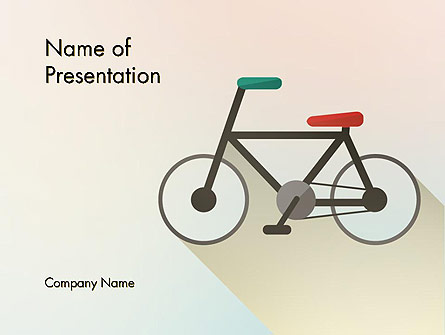 Bicycle Flat Icon Presentation Template, Master Slide