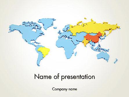 BRIC Countries Presentation Template, Master Slide