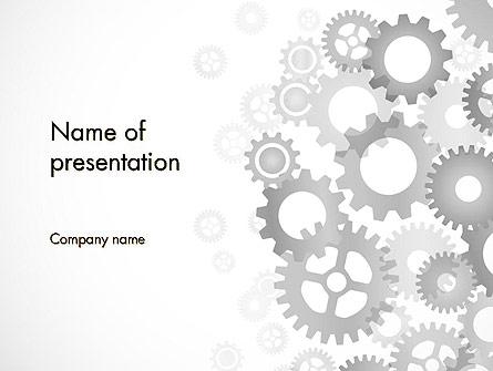 Gears Background Presentation Template, Master Slide