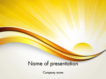 Rising Sun Presentation Template, Master Slide