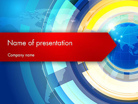 Global Business Environment Presentation Template, Master Slide