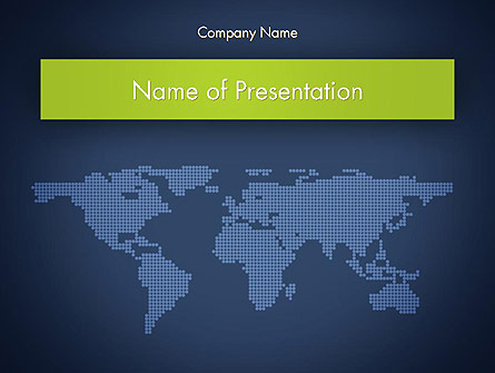 World Map Continents Presentation Template, Master Slide