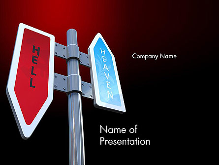 Heaven and Hell Signs Presentation Template, Master Slide