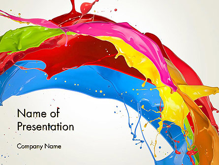 Colorful Paint Splash Presentation Template For Powerpoint And