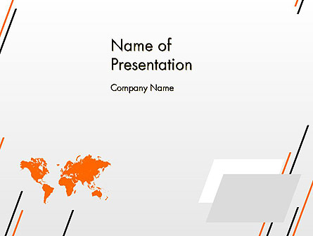 World Map Theme Presentation Template, Master Slide
