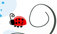 Ladybug in Children Drawing Style PowerPoint Presentation Template