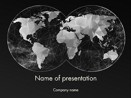 Polygonal World Map Presentation Template, Master Slide