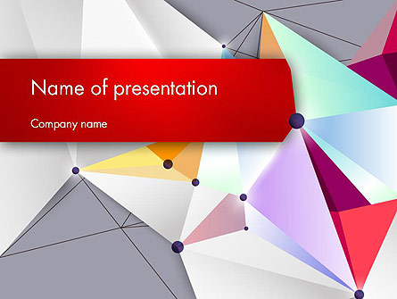 Abstract Polygonal Background Presentation Template, Master Slide