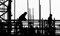 Construction Workers Silhouettes Presentation Template