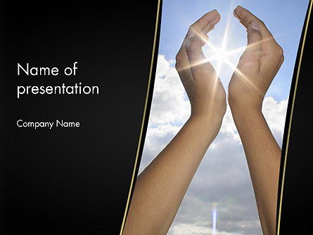 Sun in Hands Presentation Template, Master Slide