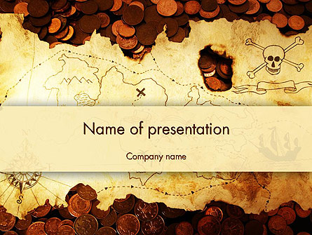 Pirate treasure map presentation template for powerpoint and pirate treasure map presentation template master slide toneelgroepblik Choice Image