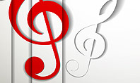 Red Treble Clef Presentation Template