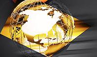 Wireframe Globe Presentation Template