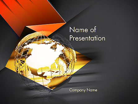 Wireframe Globe Presentation Template, Master Slide