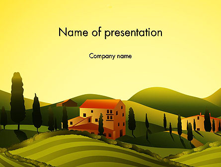 Valley Village Presentation Template, Master Slide