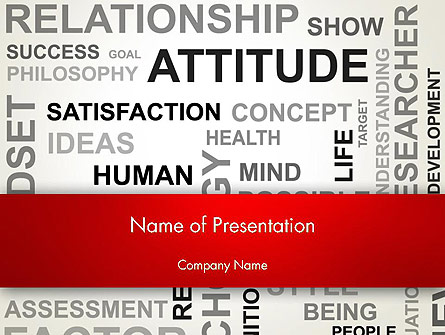Attitude Word Cloud Presentation Template, Master Slide