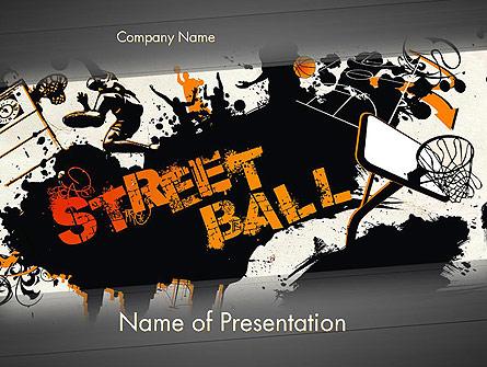 Street Basketball Graffiti Presentation Template, Master Slide