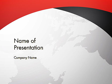 Strict Business Theme with World Map Presentation Template, Master Slide