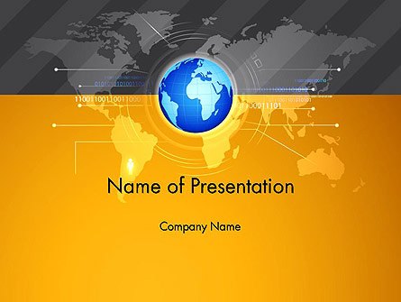 World Map and Globe Presentation Template, Master Slide