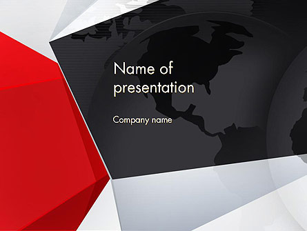 Globe with Geometric Layers Presentation Template, Master Slide