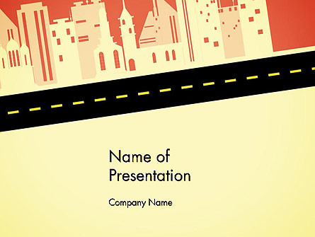 City Road Side View Presentation Template, Master Slide