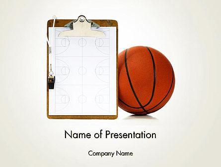 Basketball Coach Presentation Template, Master Slide