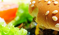 Cheese Burger with Salad Presentation Template