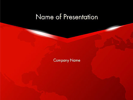 Business Style World Map Presentation Template, Master Slide