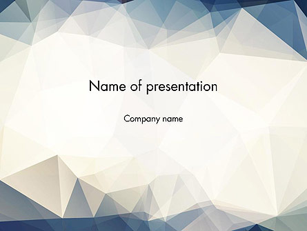 hipster triangles pattern presentation template for powerpoint and