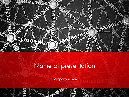 Binary Code Network Concept Presentation Template, Master Slide