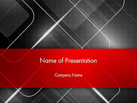 Abstract Pattern on Metal Presentation Template, Master Slide